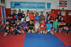 Muay thai, i partecipanti al workshop